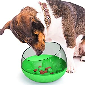 USWT Upgrade Dog Slow Feeder Bowl, Pet Slower Food Feeding Dishes,Interactive Bloat Stop Dog Bowls, Durable Preventing Choking Healthy Design
