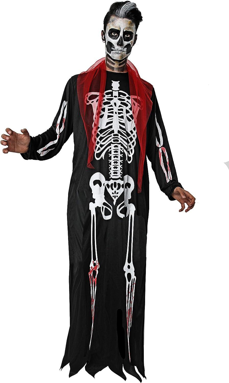 Cosumizate! Disfraz de Esqueleto sin Capucha para Hombre Adulto ...