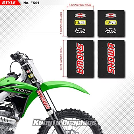 Amazon.com: Kungfu Graphics Showa Upper Mid Fork Tube Decal Kit (Pack of 4), Black: Automotive