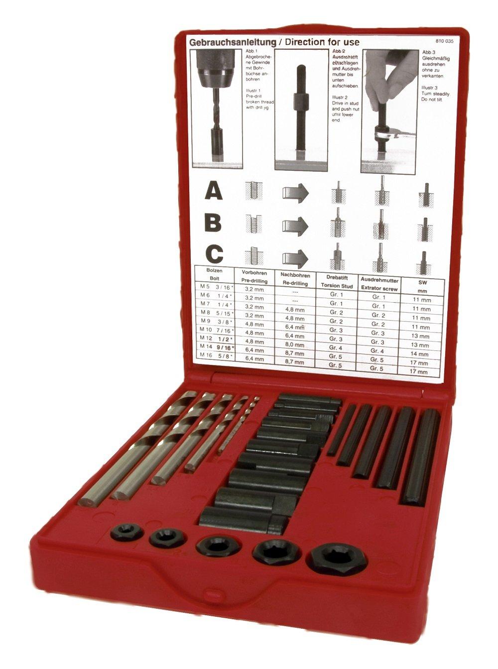 Ruko rosca Juego de herramientas hssco 245030e 1/pieza