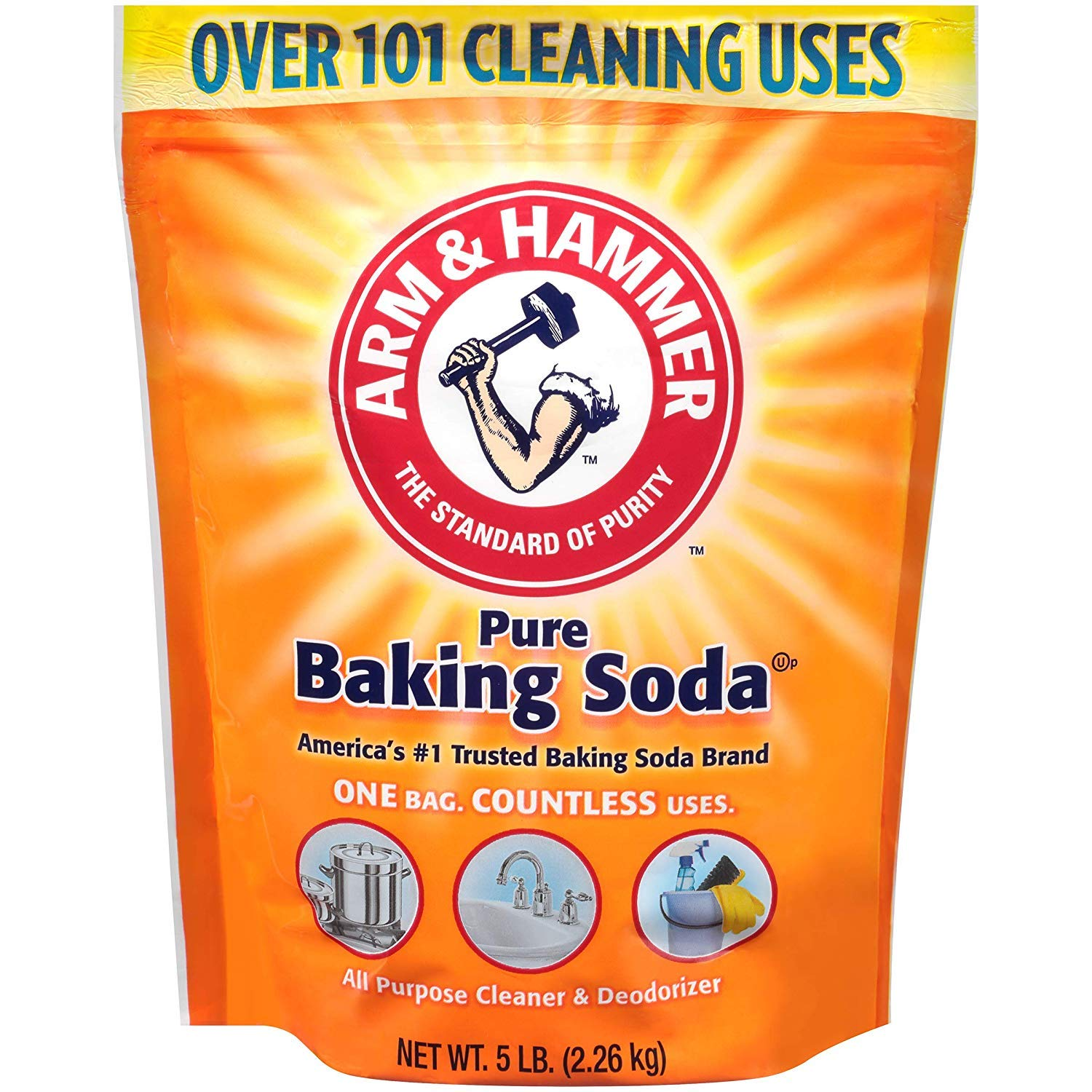 Arm & Hammer Gdgf Baking Soda, 5 Lbs, 2 Pack by Arm & Hammer (Image #1)