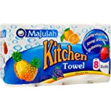 Majulah Kitchen Towel, 2 Ply, 50ct, (Pack of 8)