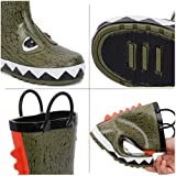 hiitave Kids Toddler Waterproof Rubber Rain Boot