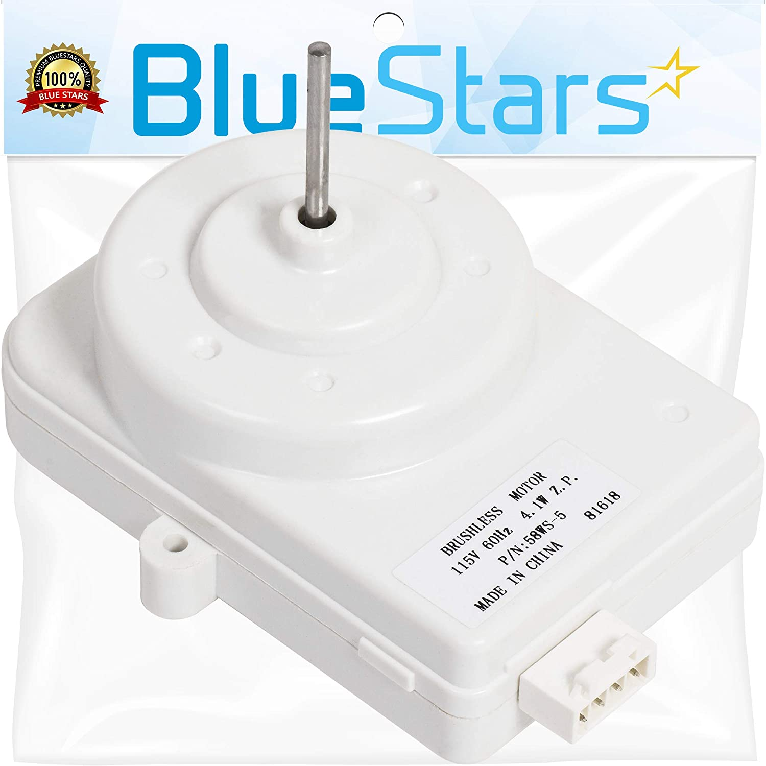 Ultra Durable 2188874 Refrigerator Condenser Fan Motor Replacement Part by Blue Stars - Exact Fit for Whirlpool Kenmore KitchenAid Refrigerators - Replaces 2188875 WP2188874 PS11739140