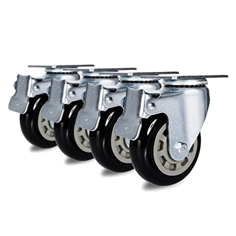 Antaprcis Caster Wheel Heavy Duty Swivel Wheels 360 Degree with Plate and Brake 4 Inches Set of 4: Amazon.com: Industrial & Scientific
