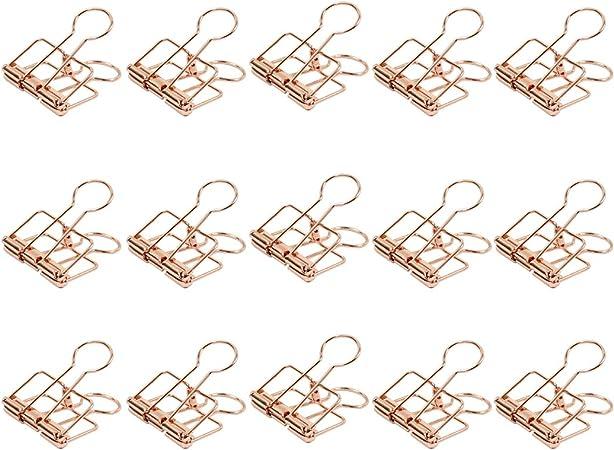 confezione da 15 Zoohot 32 millimetri Oro rosa molle fermacarte