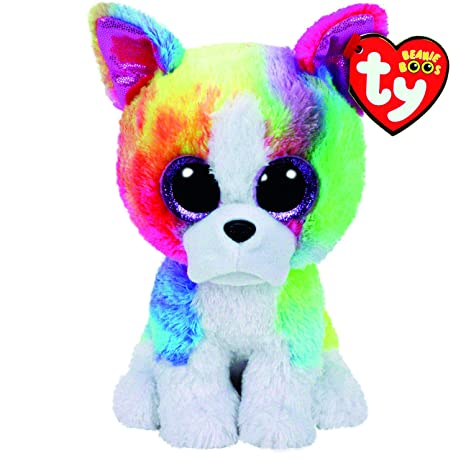 29f8ee494dc Amazon.com  Ty Beanies Claire s Girls Boo Large Isla the Rainbow Bulldog  Soft Toy in Rainbow  Ty Beanies  Toys   Games