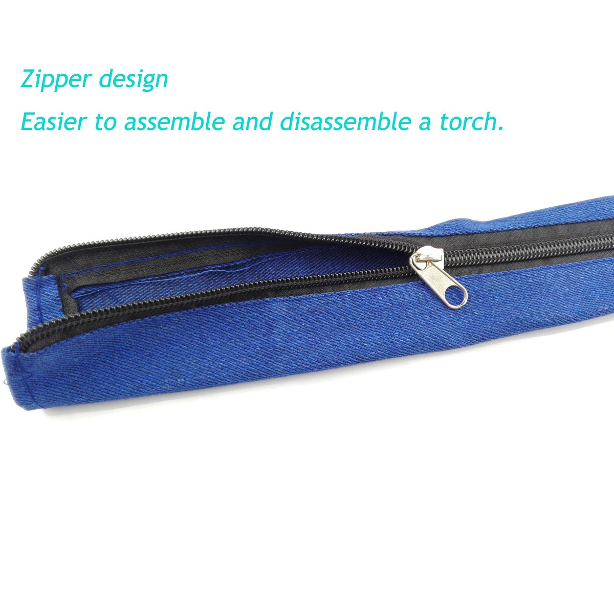 1PC Jeans Cloth TIG Welding Plasma Torch Cover Cable Hood 3.6M5CM Free Plastic Ribbon Fastener