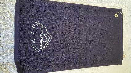 Personalizable felpa natación deportes toalla con bordado de un curvado personalizable nombre – 50 x 30