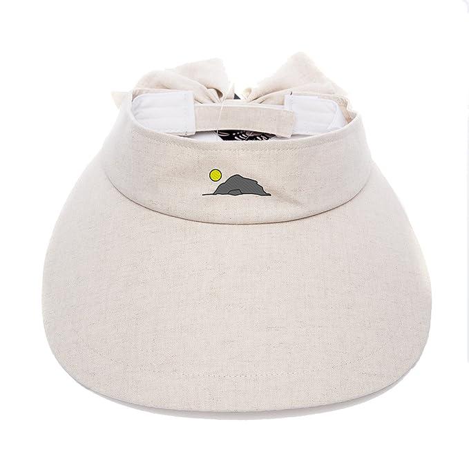 Women Wide-brimmed Sports Tennis Sun Visor Embroidered Cave Mountain Moon  Summer Watertight Hat Light 10e829a77b0