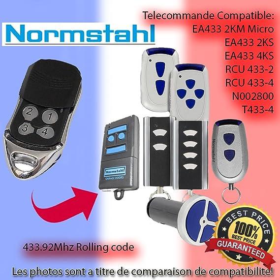 NORMSTAHL EA433 4KS Le Remplacement de la t/él/écommande 433.92MHz