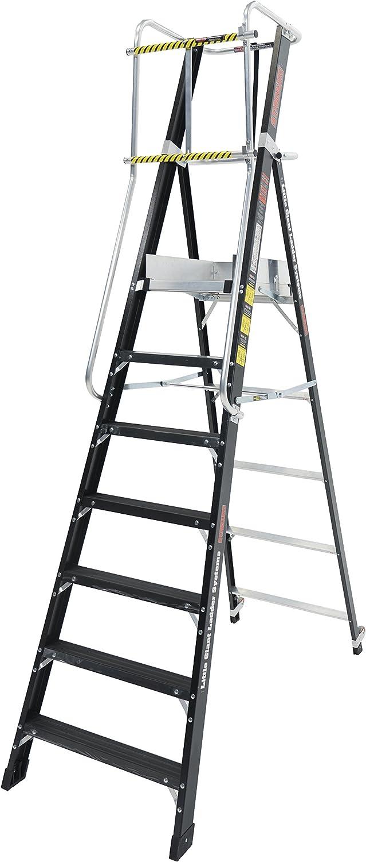 Little Giant Escaleras 19407EN 7 Estadio, 7 escaleras, color negro, 7 pasos: Amazon.es: Bricolaje y herramientas