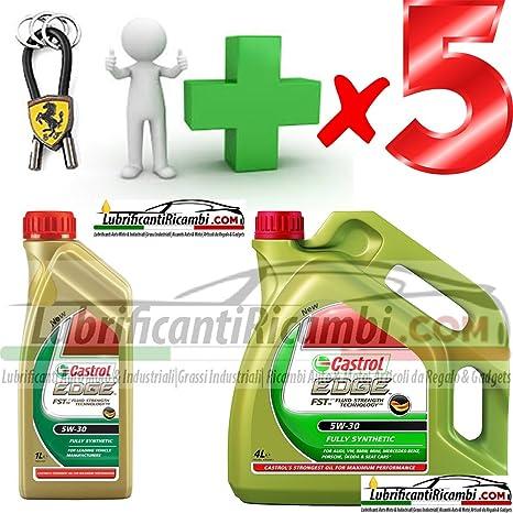 Castrol aceites de motor 5W30 Edge FST para coche, 5 L (4 L, diseño ...