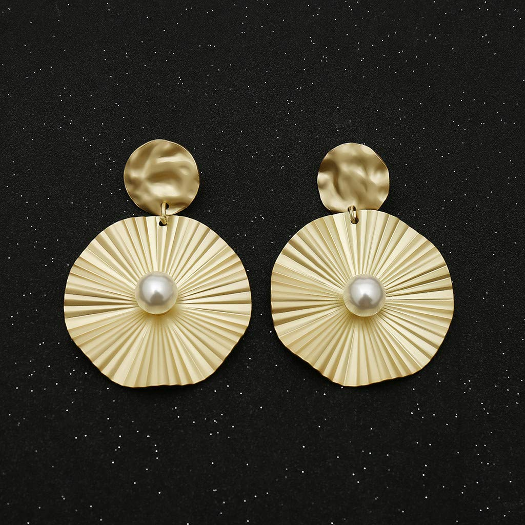 XBKPLO Earrings for Womens Temperament Fashion Shell Pearl Dangling Lady Three-dimensional Long Stud Dangle Earrings Jewelry Gifts