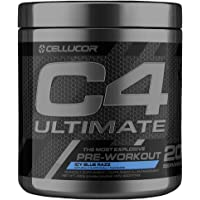 Cellucor C4 Ultimate Pre Workout Powder with Beta Alanine, Creatine Nitrate, Nitric Oxide, Citrulline Malate, Icy Blue Razz, 20 Servings