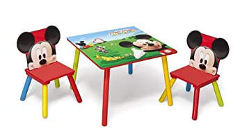 Delta Children Mickey Mouse Juego de Mesa y sillas, Tela, Multi, 60 x ...