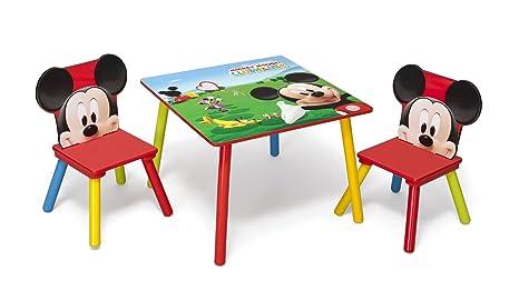 ad88795742 Disney - Set Tavolo con 2 sedie per bambini Mickey Mouse: Amazon.it ...