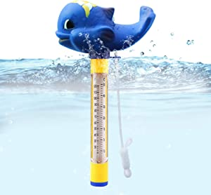 Blufree Pool Thermometer Floating, Shatter Resistant, Indoor Outdoor Thermometer Pond Water Thermometer for Swimming Pools, Spas, Hot Tubs, Jacuzzis, Aquariums & Pond
