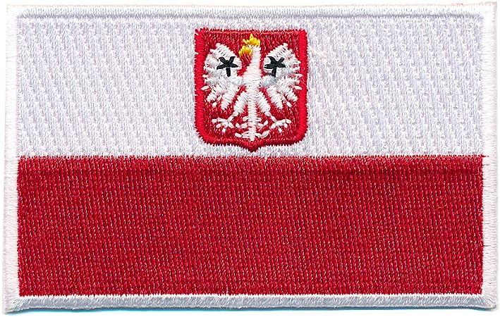 60 X 35 Mm Polen Flagge Adler Polska Poland Flag Patch Aufnäher Aufbügler 0660 B Auto