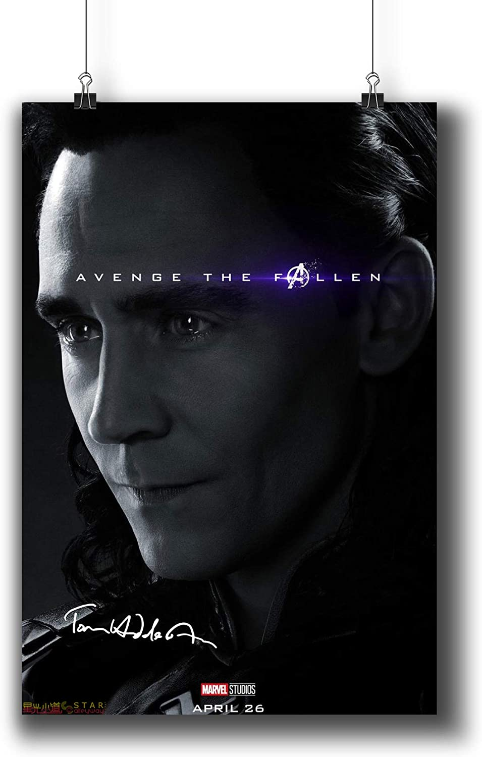 Avengers: Endgame (2019) Movie Poster Small Prints 183-330 Loki Reprint Signed Casts,Wall Art Decor for Dorm Bedroom Living Room (A3 11x17inch 29x42cm)