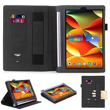 Lenovo Yoga Tab 3 Pro 10 X90 F/Lenovo Yoga Tab3 Plus yt3-x703 F 10.1 Funda duras, Premium Funda de piel sintética para Lenovo Yoga Tab 3 Pro/Lenovo ...