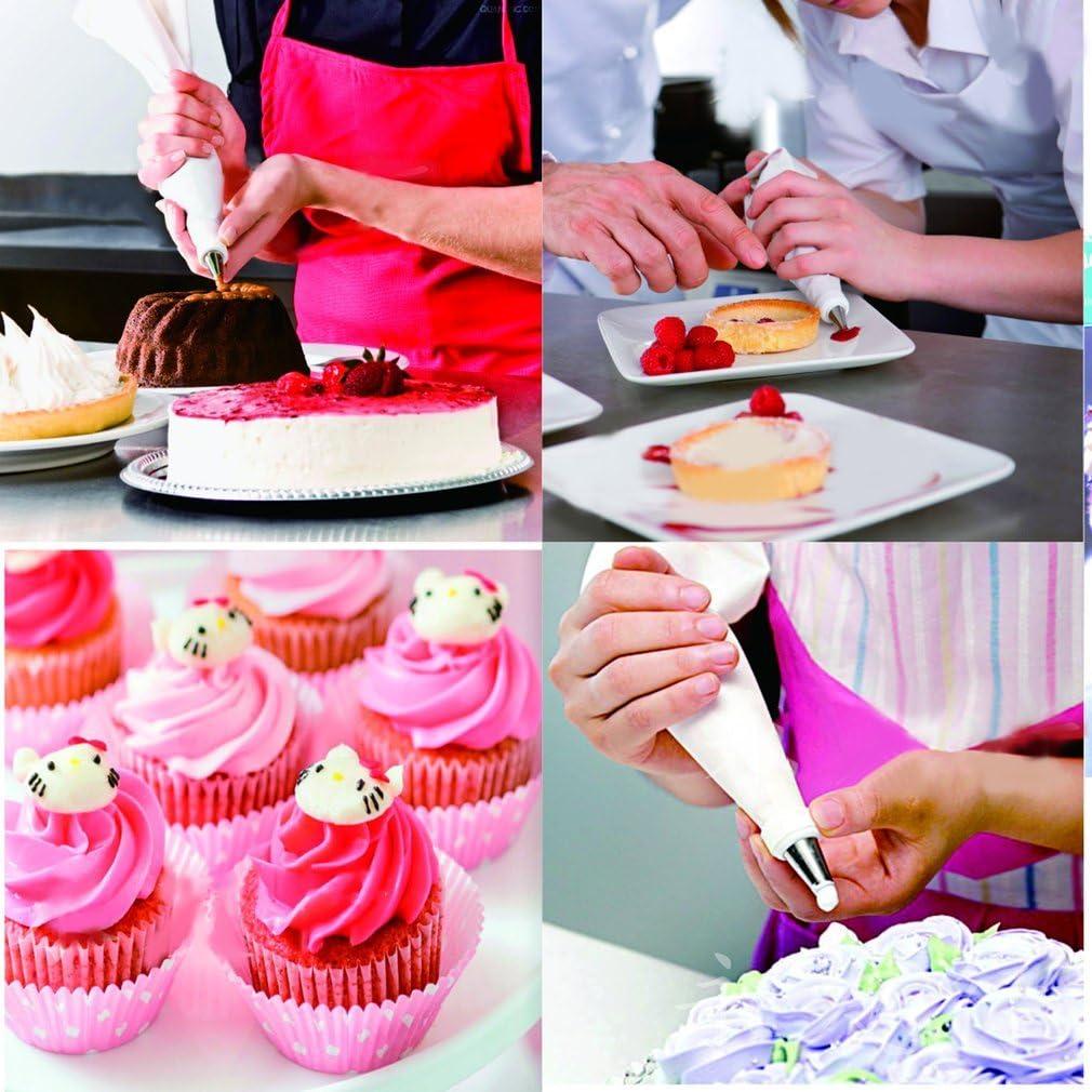 Praktische 16 Teile//satz DIY 31 cm L/änge Silikon Eis Spritzbeutel Kuchen Dekorieren Squeeze Cream Kuchen Backenwerkzeuge