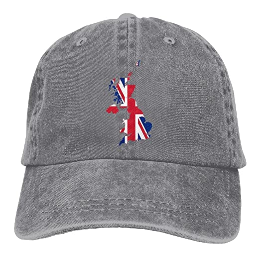 b5e937b5eb40 Flag Map of The United Kingdom Men Women Classic Cotton Jeans Baseball Cap  Adjustable Dad Hat