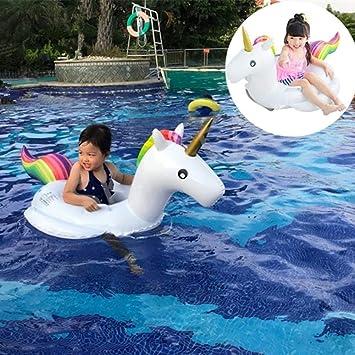 SKY TEARS Niño Unicornio Flotador Inflable Infant Natación Anillo Unicornio Infantil Piscina Asiento Verano en la Piscina como un Regalo para los Bebés: Amazon.es: Juguetes y juegos