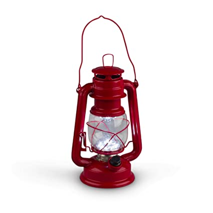 amazon com gerson 9 5 inch red metal 15 led hurricane lantern with