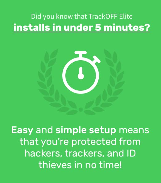 TrackOFF Elite VPN and Online Privacy Protection Software, 1 Year (3-Users)  [Download]