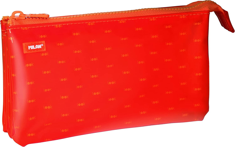 Milan Look 2 Estuches, 22 cm, Naranja: Amazon.es: Oficina y papelería