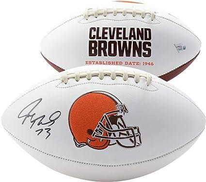 c4eee8e4 Joe Thomas Cleveland Browns Autographed White Panel Football ...