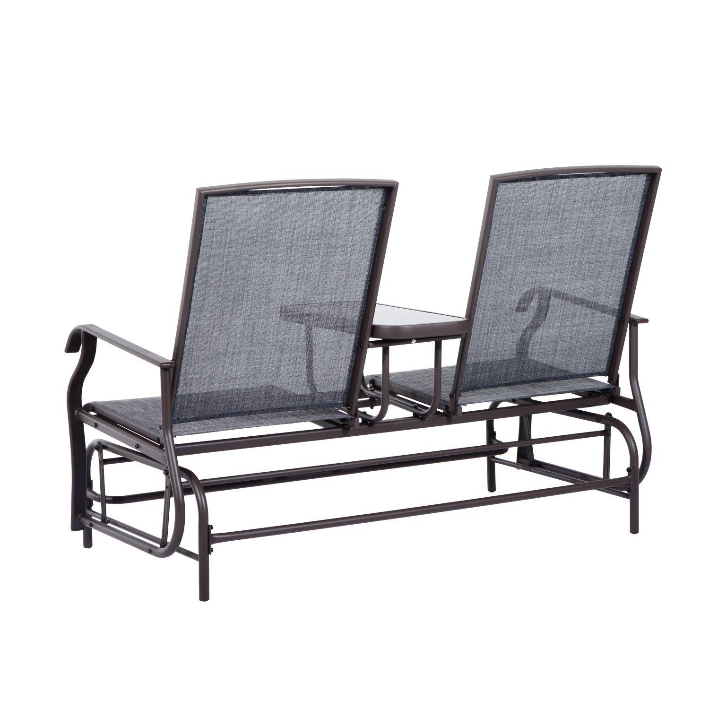 Outsunny Patio Glider Rocking Chair 2 Person Outdoor Loveseat Rocker Garden  Furniture Bench: Amazon.ca: Patio, Lawn U0026 Garden