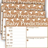 """Baby Shower Prediction and Advice Cards, Baby Shower Predictions, Baby Shower Game Advice Cards for Girl or Boy, Pack of 50 Extra Large 5x7"""" Cards for Baby Shower or Gender Reveal Party"""