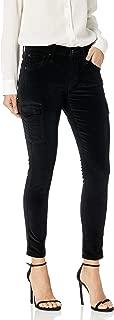 product image for James Jeans Women's J Twiggy Ankle Length Cargo Velveteen Legging in Black Vel