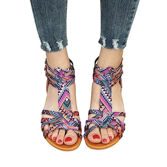 Boho Zapatos de Planas Zapatos de Playa Calzado Zapatillas Zapatos Planos Mujer Zapatos Planos Mujer Verano 2018 Zapatos Casuales Mujer Sandalias de Vestir ...
