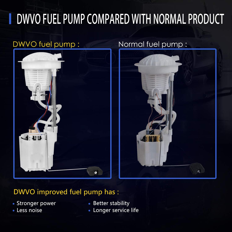 DWVO Fuel Pump for 2004-2007 Dodge Ram 1500 2500 3500 3.7L 4.7L 5.7L