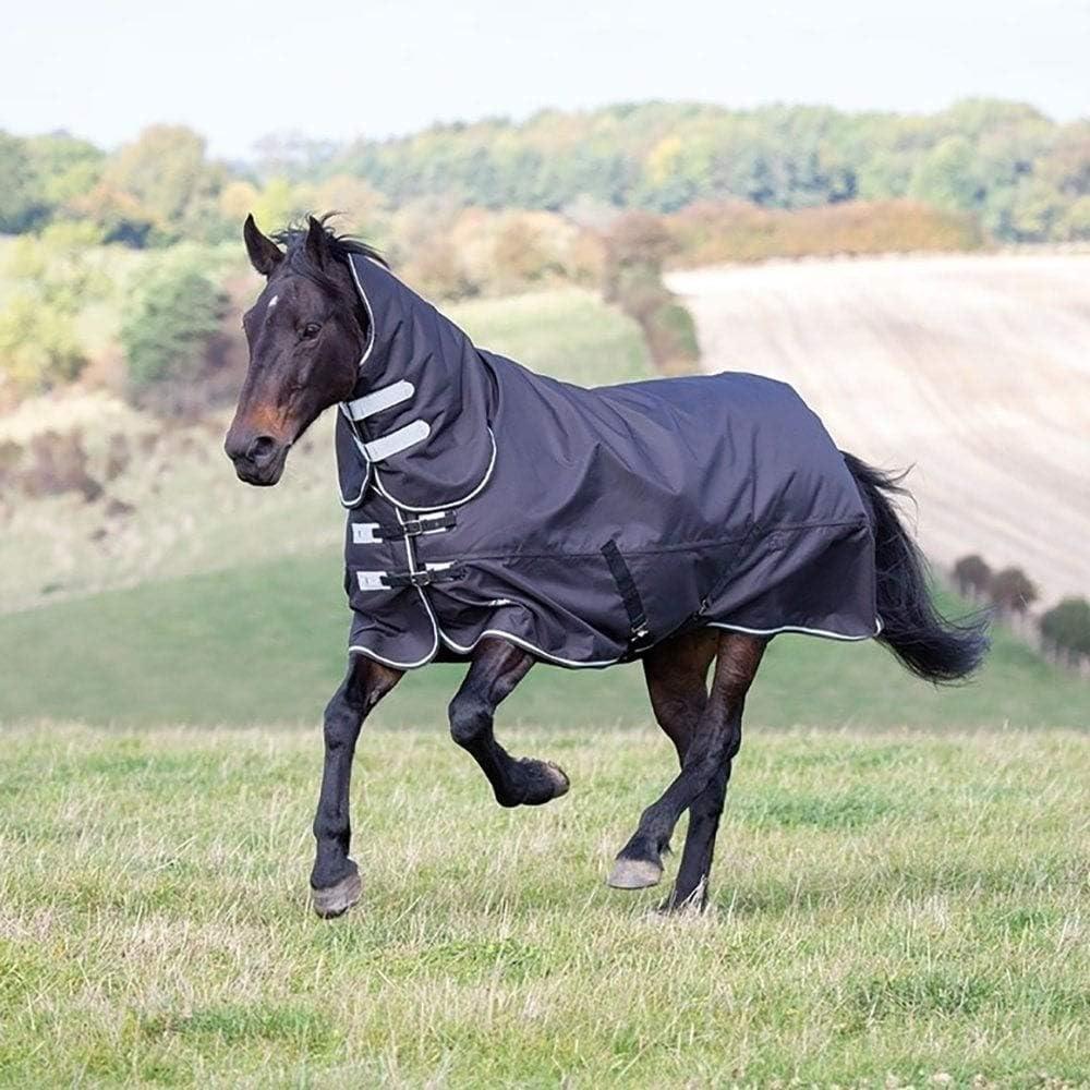 Shires Tempest Plus 300G Horse Turnout Rug 1200Denier Combo in Black 63 75 Black