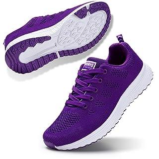 STQ Women's Athletic Walking Shoes Lightweight Mesh Tennis Sport Sneakers Purple 8.5