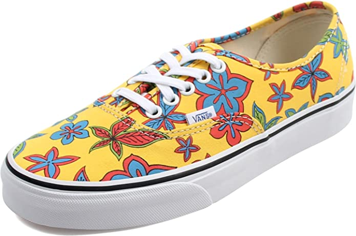 Vans Authentic Sneakers Damen Gelb mit Blumen (Freshness Floral Yellow)