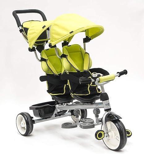 Opinión sobre Triciclo Evolutivo Gemelar QPlay Giro - Verde - De 10 a 36 meses - Peso máximo soportable 50kg
