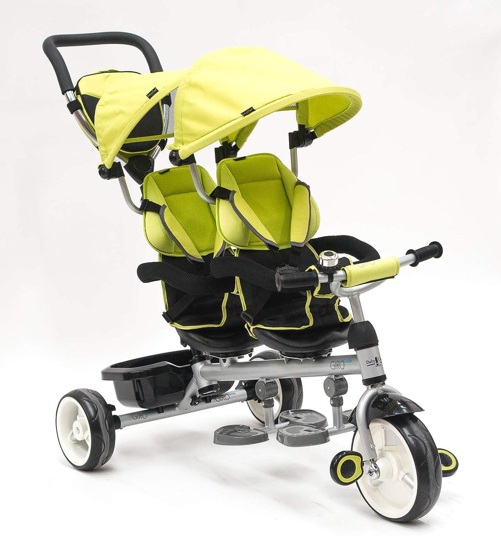 Triciclo gemelar Devessport Verde 1-3 años