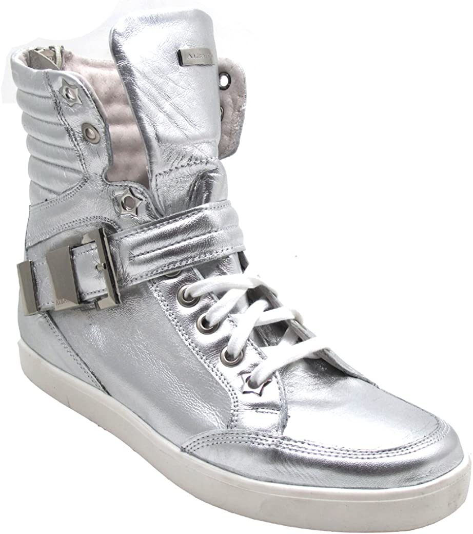 Fashion High Top Sneakers Silver