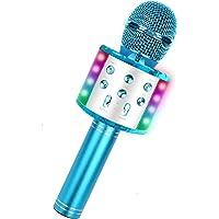 Micrófono Karaoke Bluetooth con luz LED, 4 en 1 Multifunción Microfono Inalámbrico Karaoke con Altavoz,función de…