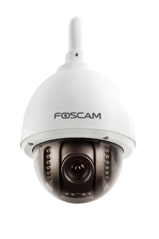 Foscam FI9828P V2(con MicroSD 32GB preinstallata)–Cámara IP Wi-Fi HD de exterior, motorizada PTZ con zoom óptico 3x y enfoque automático,...