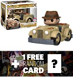 Indy's Ride (2016 NYCC Exclusive): Funko POP! Rides x Indiana Jones Vinyl Figure + 1 FREE Hollywood Themed Trading Card Bundle (088989)
