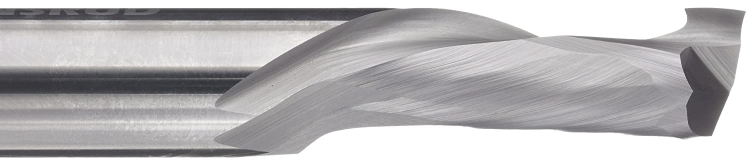 Finish 0.5000 Shank Diameter 0.5000 Cutting Diameter 30 Degree Helix 2 Flutes Uncoated 3.0000 Overall Length Inch Bright LMT Onsrud 60-169MW Solid Carbide Max Life Compression Spiral Cutting Tool