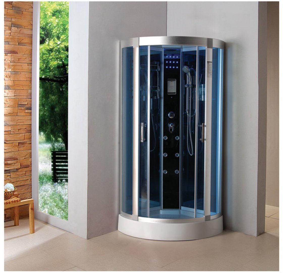 Luxury Kokss 9040 Shower enclosure 36'' x 36'' Multi function hand shower overhead rain, 3 body massage jets and LED Lights with touch screen computer by bath masters (Image #5)