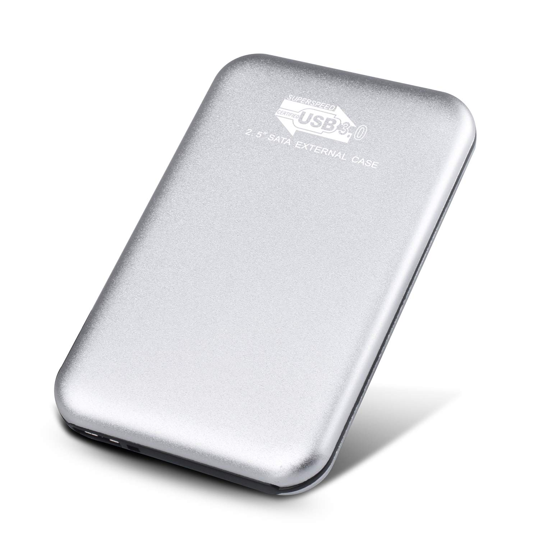 Toshaan Disco Duro Externo 1 TB 2TB, USB3.0 para PC, Mac, Desktop, Laptop, MacBook, Chromebook, Xbox One (1TB, Plata)