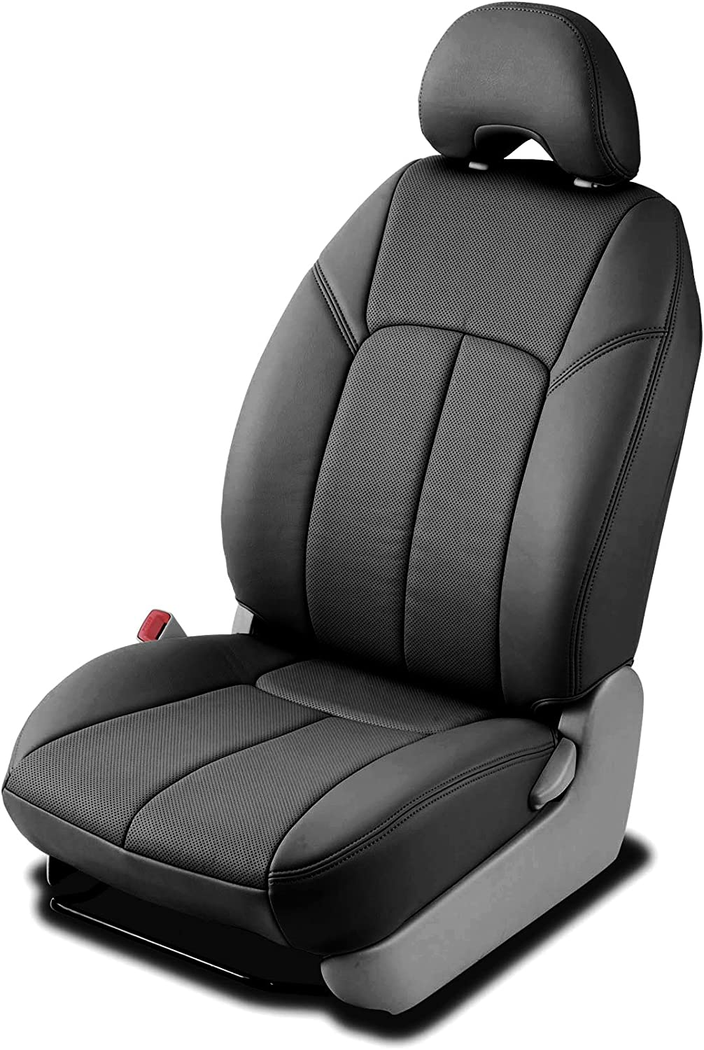 Clazzio 255911blk Black Leather Front Row Seat Cover for Toyota Highlander